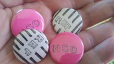 roller derby REF and NSO two button pack by mymonsterhat on Etsy, $3.25