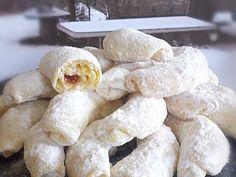 prhke lisnate kiflice - Coolinarika Torte Recepti, Kolaci I Torte, Baking Recipes, Cookie Recipes, Dessert Recipes, Desserts, Kiflice Recipe, Biscotti Cookies, Croatian Recipes