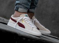Que vaut la Puma Suede 90681 Whisper White Pomegranate ? Puma Sneakers, Mens Puma Shoes, Converse Sneaker, Sneakers Mode, Classic Sneakers, Best Sneakers, Casual Sneakers, Sneakers Fashion, Fashion Shoes