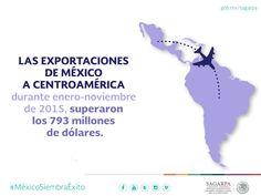 Las exportaciones de México a Centroamérica durante enero-noviembre de 2015, superaron los 793 millones de dólares.SAGARPA SAGARPAMX #MéxicoSiembraÉxito