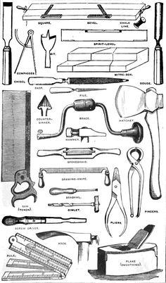 Tools from the twins' workshop.