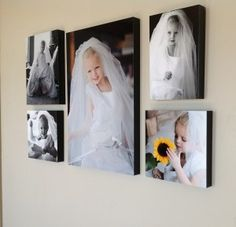 wall decor ideas for little girl's room! So cute in her mommy's wedding dress! We will have a photo shoot after the wedding.... Before I put my dress away properly