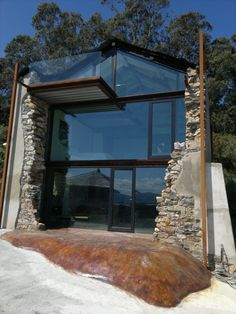 View full picture gallery of Casa Sabugo Architecture Design, Architecture Renovation, Contemporary Architecture, Exterior Design, Interior And Exterior, Old Stone Houses, Dream House Exterior, Glass House, Modern House Design