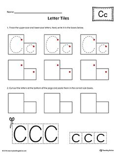 Letter C DoADot Worksheet  Worksheets Activities And Early