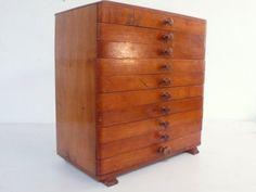 Antique art deco collectors cabinet