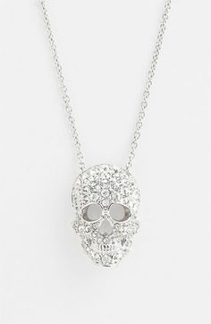 Nadri 'Skull' Pendant Necklace (Nordstrom Exclusive) available at #Nordstrom @Loren Cline Sayre you need this
