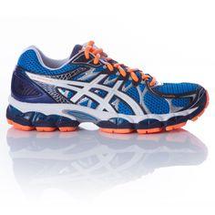 23b27214dd241 Zapatillas Running ASICS NIMBUS 16 Hombre Azul Naranja Blanco