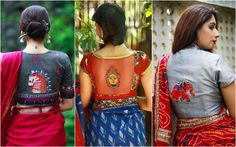 We have rounded up some really amazing blouse designs for the year latest saree blouse designs new models saree blouse patterns Latest Saree Blouse, Saree Blouse Neck Designs, Saree Blouse Patterns, Designer Blouse Patterns, Latest Sarees, Plain Saree, Simple Sarees, Saree Look, Matches Fashion