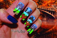 paisaje en uñas