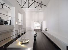 Sensational Converted Buildings Designs: Sensational Private Home Design With Large Dining Room Interior