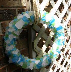 Simple Daisy: {seaglass wreath}