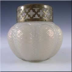 Kralik Art Nouveau 1900's Iridescent Mother-of-Pearl Glass Vase #3 - £40.00