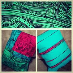 ikea cushions 2012 - i have this and love the colours. looks great on the day bed. it's a smaller sized cushion so great as an arm cushion or support for your lower back