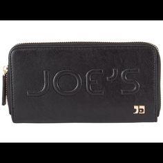 "Selling this ""Joe's Jeans black monogram zip around wallet"" in my Poshmark closet! My username is: crazyposh. #shopmycloset #poshmark #fashion #shopping #style #forsale #Joe's Jeans #Clutches & Wallets"