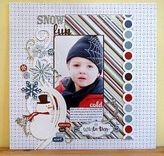 #papercrafting #scrapbook #layouts: Echo Park's Wintertime