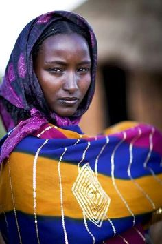 Beautiful!  Wife of a Borana Chief in Ethiopia.  Photograph by Steven Goethals.