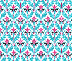 The Damask Divine  ~ by PeacoquetteDesigns on Spoonflower ~ bespoke fabric, wallpaper, wall decals & gift wrap ~ Join PD  ~ https://www.facebook.com/PeacoquetteDesigns #Spoonflower #Peacoquette