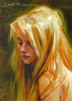 Original Oil Portrait Painting  Halo by Larriva on Etsy, $50.00