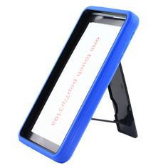 Alcatel one touch pop7/p310,Blue skin on black hard unbranded plastic case stand #unbranded