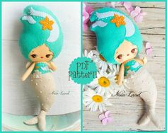 This PDF sewing pattern is to make the seaside mermaid pictured from felt fabrics. These dolls are hand sewn. Y Size: 12 tall THIS IS NOT A FINISHED DOLLS. Language: English . Pattern does not include Doll, supplies or fabric. THIS PDF e-Pattern includes: . Step by step photo tutorial. . A material and supply list. . Full size pattern pieces just Print and Sew! (No need to enlarge or resize!) Skill Level: easy/ intermediate Instant Download! In the following link, you can see how to dow...