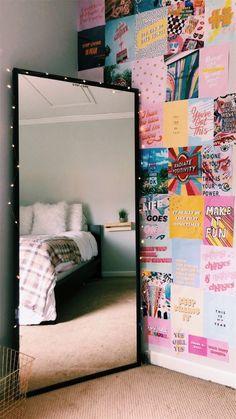 dorm room organization * dorm room ideas & dorm room & dorm room designs & dorm room ideas for guys & dorm room organization & dorm room decor & dorm room inspiration & dorm room hacks Cute Room Ideas, Cute Room Decor, Dorm Room Wall Decorations, Diy Room Ideas, Room Ideas Bedroom, Diy Bedroom, Bedroom Inspo, Modern Bedroom, Dorm Room Art