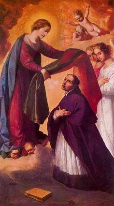 Imposición de la casulla a san Ildefonso.
