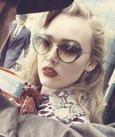 Miu Miu FW15 Eyewear Campaign. Maddison Brown shot by Steven Meisel in New York.