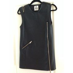 UNIF leather dress UNIF leather dress, worn once. practically brand new. Too short on me, being 5'9 1/2 UNIF Dresses
