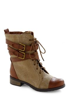 Be Buckle Soon Boot. If your cell phone is ringing off the hook, you wouldn't know it, 'cause you left it at home as you departed for your local version of a safari! #brown #modcloth
