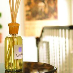 Uno Reed Diffuser by Alora Ambience, 16 oz Uno was the first Alora Ambiance fragrance. Uno is a feminine mix of Muguet, Sandalwood, Musk and Lemon. Alora fragrances are a combination of alcohol and essential oils. The exquisite design of Alora Ambiance Air Fresheners is elegantly attractive and unusually effective at filling a room with inviting aromas. As effective a centerpiece as it is an air freshener, Alora truly is a one-of-a-kind product and makes a perfect gift.