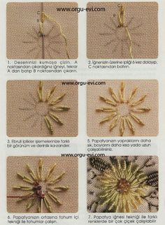 This Pin was discovered by Tin Hand Embroidery Stitches, Embroidery Techniques, Embroidery Art, Cross Stitch Embroidery, Linen Stitch, Brazilian Embroidery, Embroidered Flowers, Textile Art, Beading Patterns
