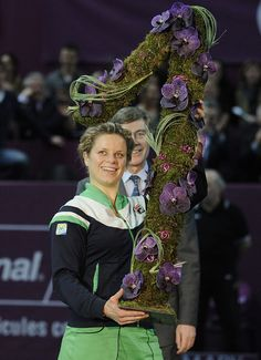 My Favorite Kim Clijsters celebrating her number #1 ranking a few years ago.