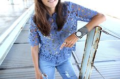 Camisa Giselle Georgia de colección verano 16.  #mbym #mbymespaña #SS16 #PV16 #streetstyle #style