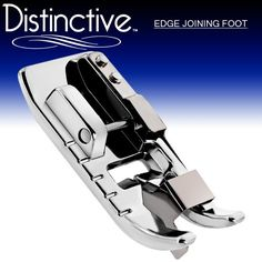 Distinctive Edge Joining / Stitch in the Ditch Sewing Machine Presser Foot - Fits All Low Shank Snap-On Singer*, Brother, Babylock, Viking (Husky Series), Euro-Pro, Janome, Kenmore, White, Juki, Bernina (Bernette Series), New Home, Elna and More!