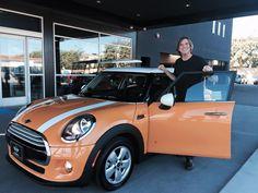 SOLD! 2015 MINI COOPER 4 DOOR in Volcanic Orange. Motoring Advisor Greg Lara.