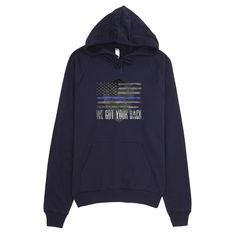 Blue Line Pullover-Hoodie