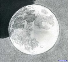 Pencil moon Drawing Lessons, Drawing Poses, Painting & Drawing, Drawing Guide, Moon Sketches, Drawing Sketches, Sketching, Moon Texture, Moon Drawing