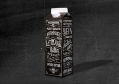 MS Milk packaging redesign #chalkboard #typography