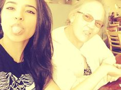 Becky G and her abuelita!