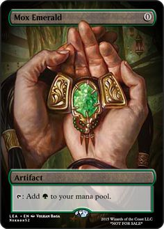 Mox Emerald If you have any suggestions for a card you would like to see let me know. Game Card Design, Mtg Altered Art, Mtg Art, Magic The Gathering Cards, Alternative Art, Magic Cards, Wizards Of The Coast, Custom Cards, Dungeons And Dragons