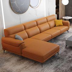 L Shaped Leather Sofa, Leather Corner Sofa, L Shaped Sofa, Corner Sectional Sofa, Lounge Sofa, Lounge Furniture, Corner Sofa Modern, Italian Living Room, Small Apartment Furniture