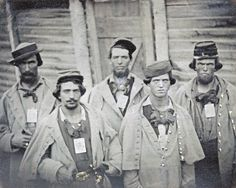 Confederate Soldier Prisoners at Camp Douglas in Chicago.  Approx 4,000 Confederates died here during the war.