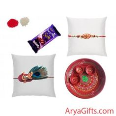Send the best rakhi wishes to your dearest brother and show how much you will miss them on this Raksha Bandhan. Set of 2 Beautiful Rakhi with Cadbury Dairy Milk Silk Bubbly (50 gm ) and Pooja Thali. Rakhi design may differ as per the stock available. Send online rakhi and gifts to India. We offer free pack of Roli & Chawal along with Rakhis. we will ship this product for free .