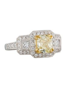 Natural Fancy Yellow Diamond Ring 2.00ctw
