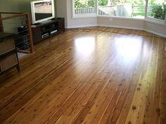 Cypress pine floor jarrah stain semi gloss polyurethane finish floors pinterest satin - Cypress floorboards ...