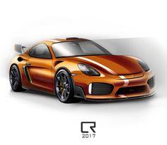 Porsche GT4 RS concept sketch