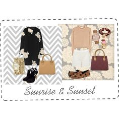 """""""sunrise and sunset"""" by dyandraajeng on Polyvore"""