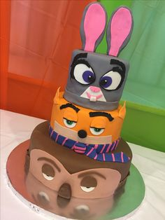 Zootopia cake for my daughter's birthday.