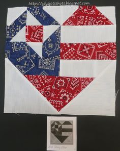 Quilt Block Shot #3 ~ Old Glory Star