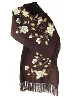 See related links to what you are looking for. Embroidery Monogram, Ribbon Embroidery, Embroidery Patterns, Crochet Scarves, Crochet Shawl, Crochet Potholder Patterns, Mexican Outfit, Embroidery On Clothes, Embroidered Flowers